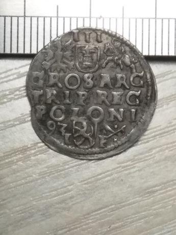 Три гроші ( трояк ) сігізмунда 3 ваза 1593 рік