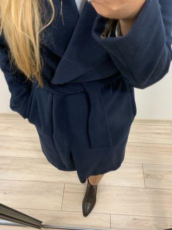 Пальто темно синє