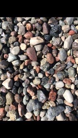 Kamien otoczak ziemia zwir piasek