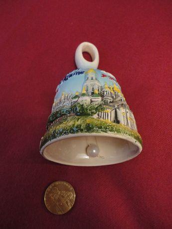 Колокольчик сувенир из Киева (керамика) звоночек колокол