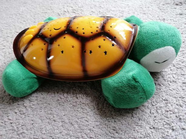 żółw lampka nocna projektor gwiazd niebo pozytywka