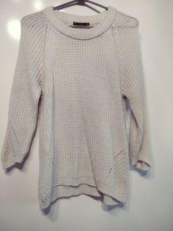 Śmietankowy sweter ZARA