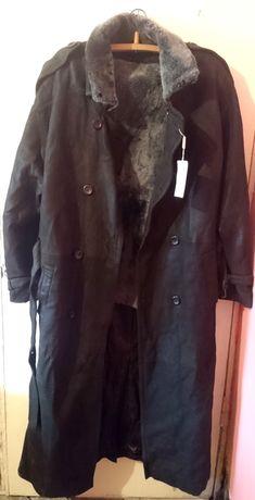 пальто новое натуральная кожа длинное дубленка