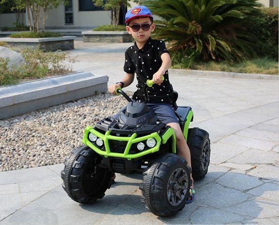 Детский электромобиль Квадроцикл (M 3156) кожа, EVА-резина, мр3-плеер