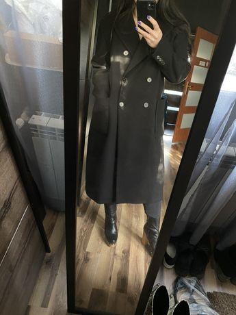 Płaszcz o męskim kroju ZARA klasyczny elegancki wełniany dwurzędowy XL