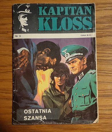 """Komiks Kapitan Kloss """" Ostatnia szansa"""" nr 3 wyd. I z 1971 roku"""