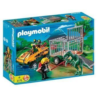 Playmobil 4175 Carro Anfibio com Dinossauro Jurassic World