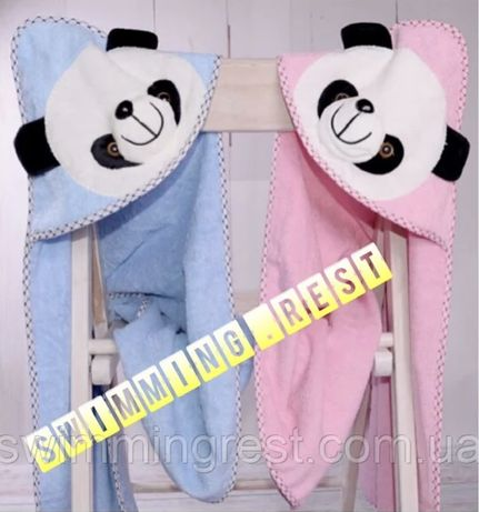 Уголок полотенце с капюшоном для купания детский 85х85