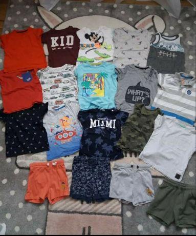 ubrania letnie, paczka, zestaw, koszulki, spodenki