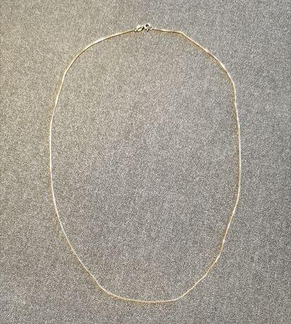 Złoty delikatny łańcuszek próba 585 - 14K wzór kostka 55 cm.