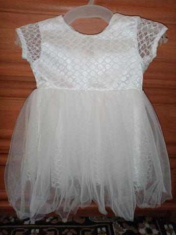 Платье для девочки на крещение до 1 годика