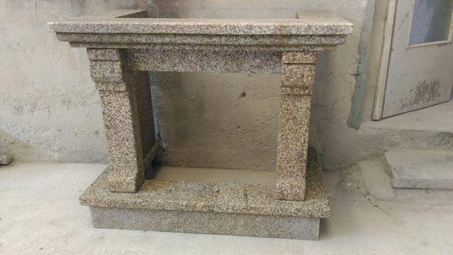 Fogão de sala lareira granito