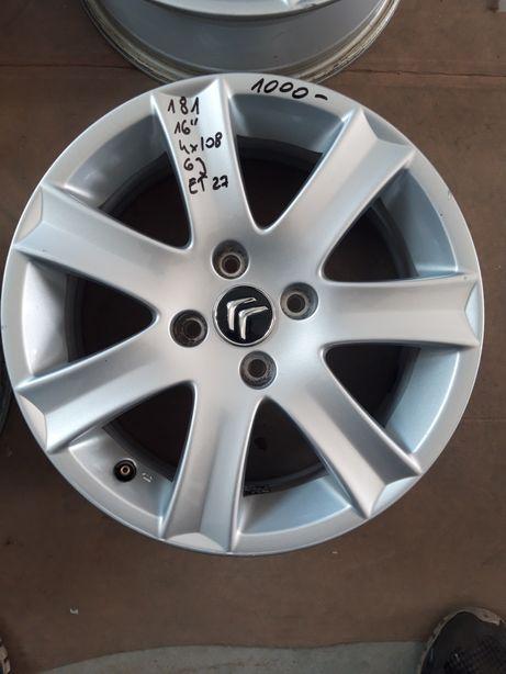 181 Felgi Aluminiowe CITROEN R16 4x108 R16 ŁADNE