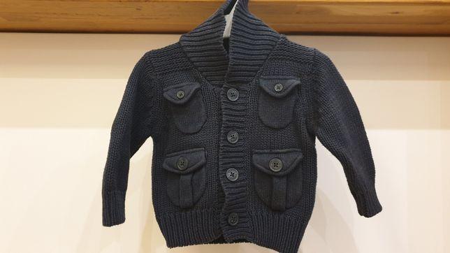 Sweter rozpinany wełniany 3-6msc Jasper Conran niemowlęcy