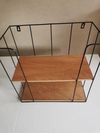 Półka drewniana metalowa Smukke