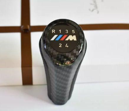 1x Moca Punho Manete Mudanças BMW M/// Carbono 5Vel