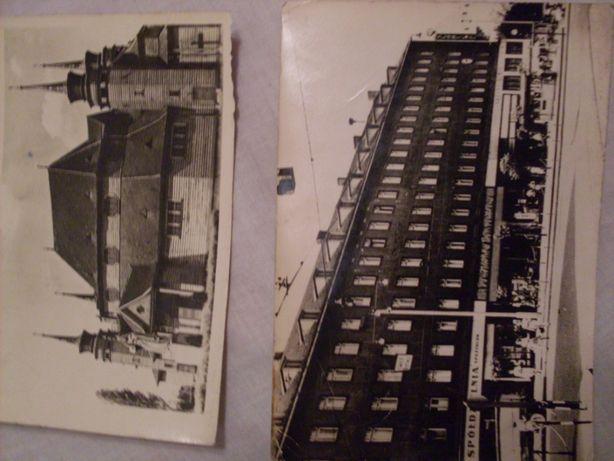 Pocztówka Zabrze Kościół św. Jadwigi Dom towarowy P.D.T 1957 r