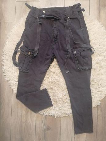 Spodnie jeansowe damskie bojówki