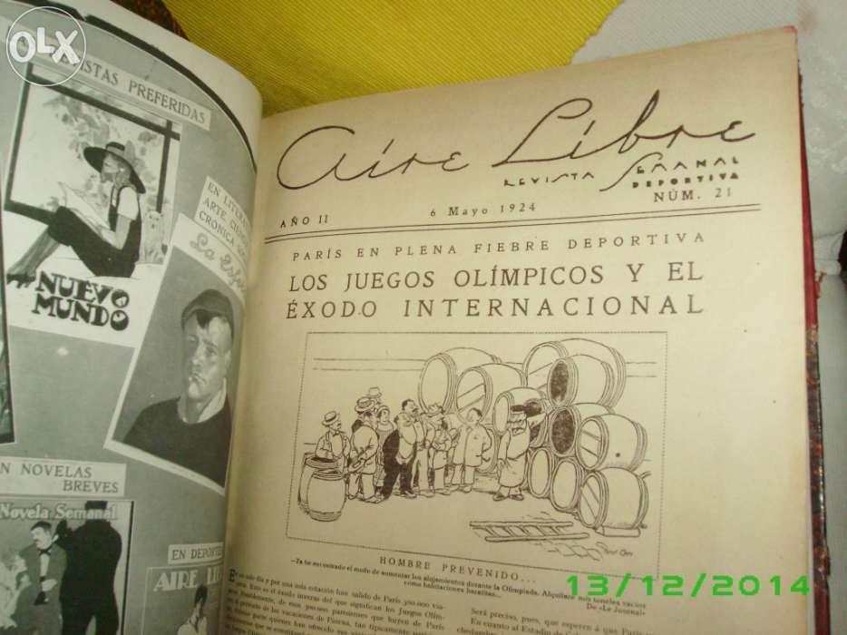 Revista de 1924 de desporto - Aire Libre Avenidas Novas - imagem 1