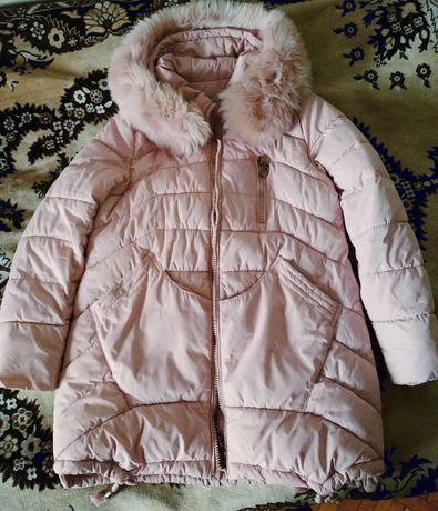 Куртка пуховик розовая пудра
