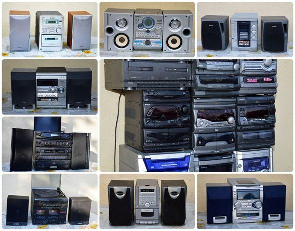 Mocna wieża wzmacniacz radio Aiwa Thomson Sharp Sony AUX, FM