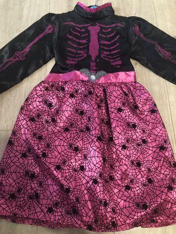 Suknia strój na bal dla dziewczynki 5-6 lat pająk nietoperz 122/128