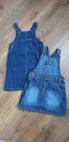 Sukienka jeansowe 92-98. Cena za 3 szt. Wysyłka 5 zl. GEORGE M&S