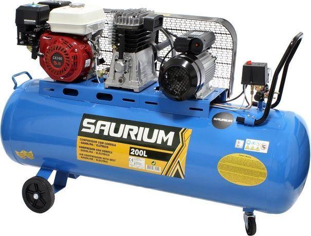 Compressor de Ar - Gasolina/Electrico - 200 L - SAURIUM® - Automático