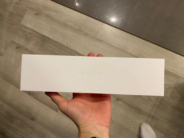 Nowy Folia Apple Watch 6 44mm GPS + LTE Silver, pasek Biały GW24msc