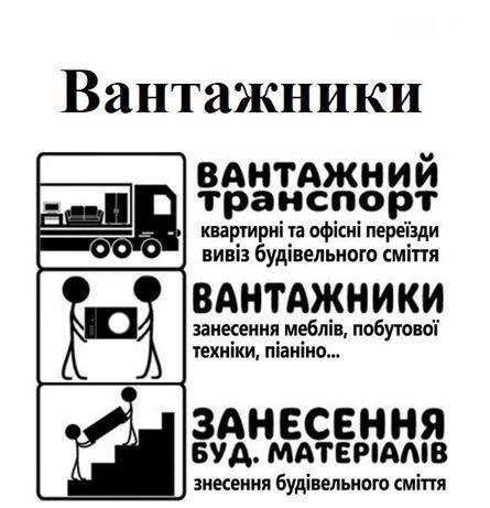 Послуги вантажників.Недорого