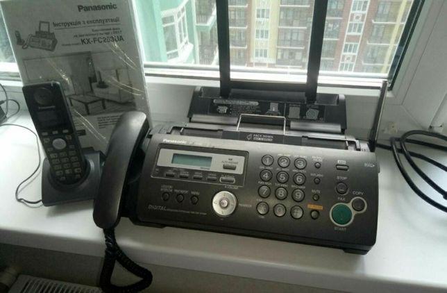 Продам телефон-факс panasonic kx-fc253ua с радиотрубкой