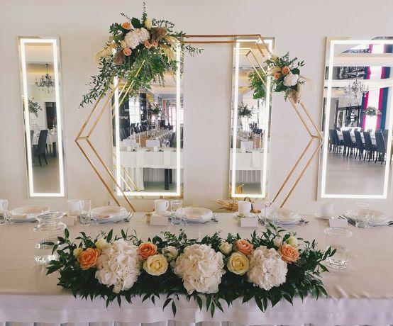 Dekoracje ślubne oraz imprez okolicznościowych-kościoła, sali, urzędu