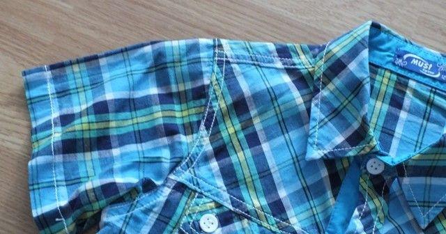 elegancka koszula krótki rękaw 116 122