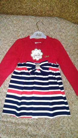 Продам новые туники, платья для девочек с паетками, Турция.