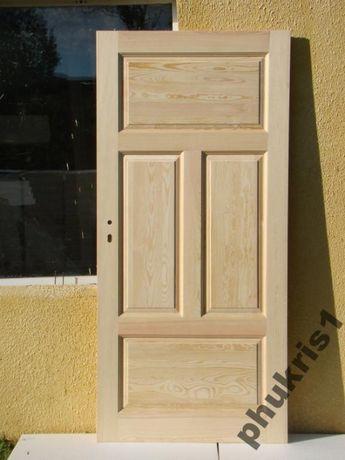 Drzwi wewnętrzne 100% drewniane bezsęczne PROSTE