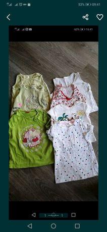 Paka ubrań dla dziewczynki 74-92 t-shirt