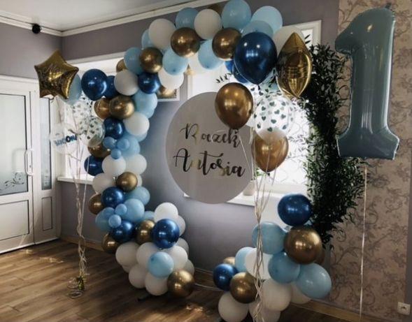 Dekoracja balonowa, chrzest, komunia, urodziny