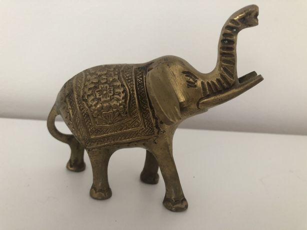 Figurka mosiężna słoń mosiężny indyjski Indie 10x9,5x6cm