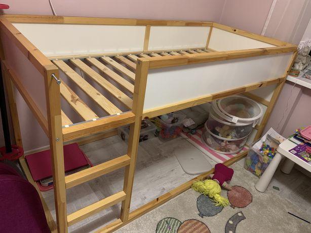 Łóżko pietrowe Ikea kura