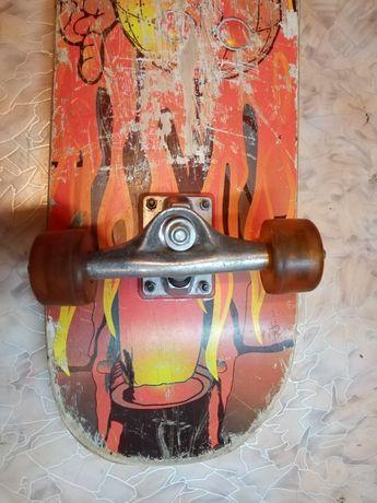 Slide Master скейт. Колеса для скейтборда. Доска треснула.