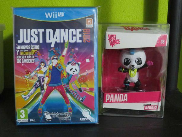Just Dance 2018 Wii U + Figura Oficial Panda NOVO/SELADO