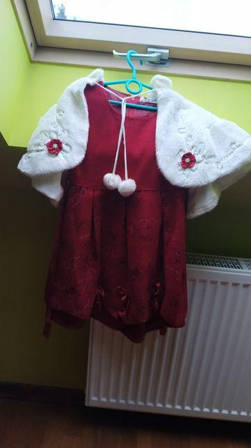 Sukienka czerwona na 8-12lat