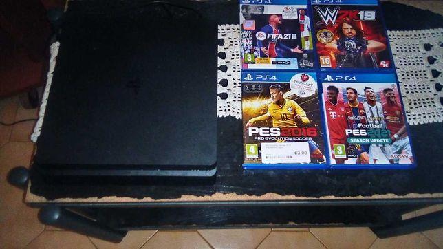PlayStation 4 mais 4 jogos