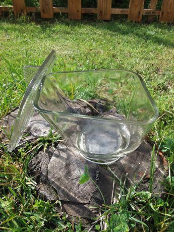 szklany pojemnik sklepowy z prl-u