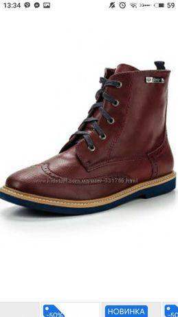 Ботиночки челси бордовые