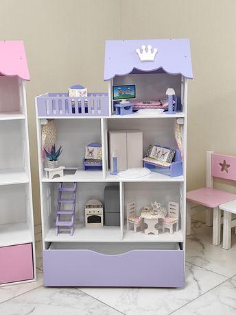 Домик для кукол ,кукольный дом с ящиком