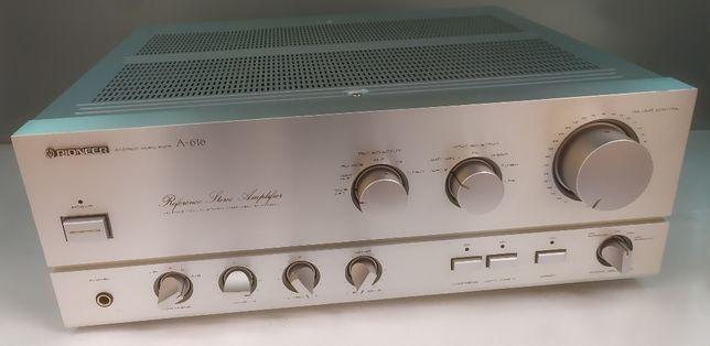 Pioneer a-616 wzmacniacz stereo srebrny bdb stan vintae