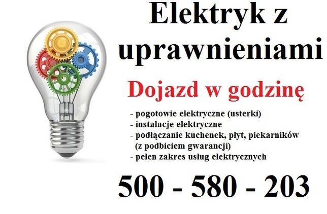 Elektryk z uprawnieniami - instalacje, awarie, podłączenie płyty AGD