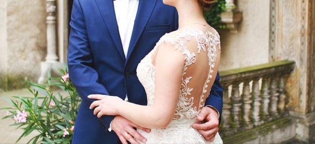 Suknia ślubna Machiko szampan beżowa