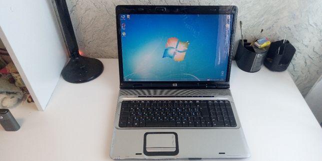 Красивый ноутбук HP pavilion DV 9000 17 дюймов экран живая батарея